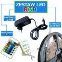 ZESTAW 5M Taśma 150 RGB LED IP20 + zasilacz + sterownik + pilot