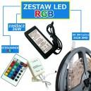 ZESTAW 15M Taśma 450 RGB 3528 LED IP20 + zasilacz + sterownik + pilot