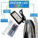 ZESTAW 5M Taśma 150 RGB 5050 LED IP65 + zasilacz + sterownik + pilot
