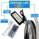 ZESTAW 10M Taśma 300 RGB 5050 LED IP65 + zasilacz + sterownik + pilot