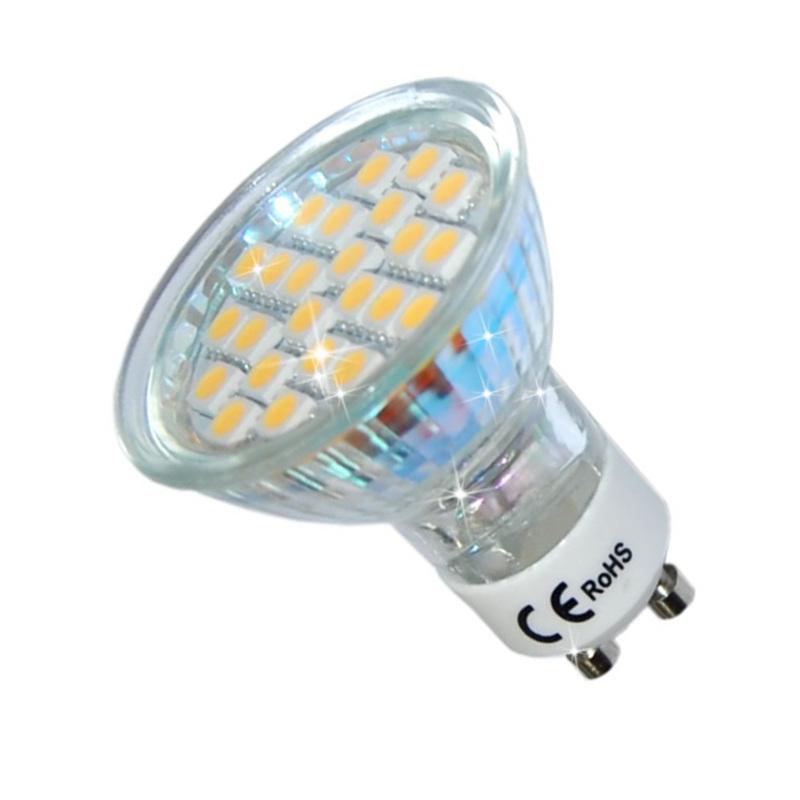 led lampe 24 smd 5050 leuchtmittel gu10 230v 3 5w hohe qualitat ebay. Black Bedroom Furniture Sets. Home Design Ideas