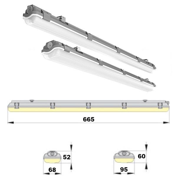 LED Feuchtraumleuchte Wannenleuchte 60 90 120 cm Röhre Keller Werkstatt