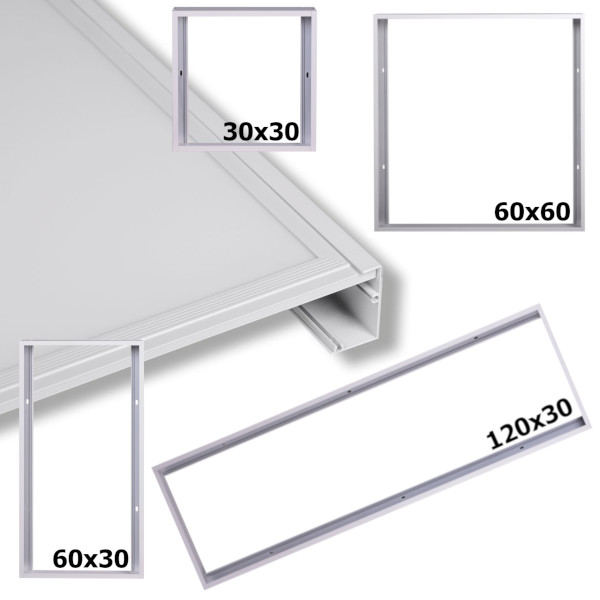 Sehr LED Panel Rahmen 30x30 60x30 120x30 60x60 Aufputz Aufbau OB73