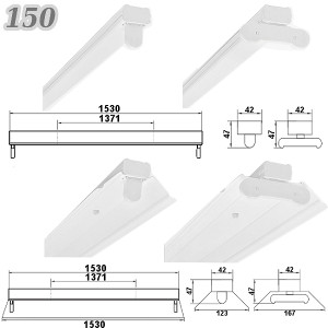 *NEU* SET LED Deckenleuchten mit T8 LED 60cm 120cm oder 150cm G13 Bürolampe